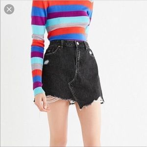 BDG Distressed Denim Skirt
